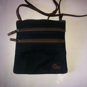 Dooney & Bourke Black Nylon Crossbody Bag